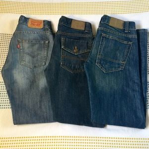 Bundle 3 Pairs Youth Tommy Hilfiger & Levi's Jeans